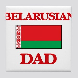 Belarusian Dad Tile Coaster